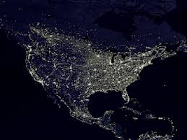 View of US from outer space